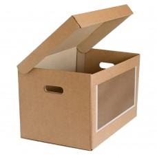 Архивная коробка с ручками и окном 480x325x295