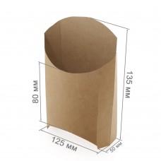 """Упаковка для картофеля фри «ECO FRY L """"Pure Kraft""""»"""