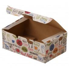 Упаковка для наггетсов «ECO FAST FOOD BOX S Enjoy»