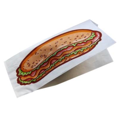 Уголок бумажный под хот-дог с печатью 80x40x225