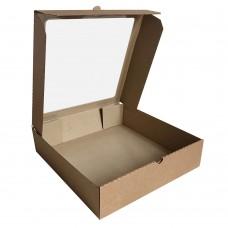 Коробка для пирога крафт с окном