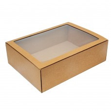 Коробка для сувениров 400x300x120 мм  с окном крафт