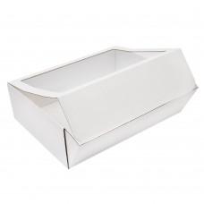 Коробка для сувениров 400x300x120 мм с окном белая