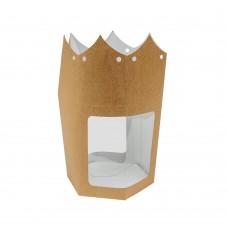 Коробка для сувениров «Фонарь» с окном крафт