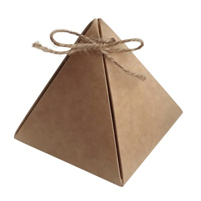 Коробка для сувениров «Пирамидка» крафт