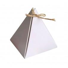 Коробка для сувениров «Пирамидка» белая