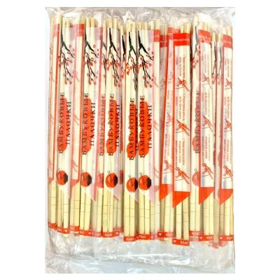 Палочки для еды бамбуковые 20 см с зубочисткой
