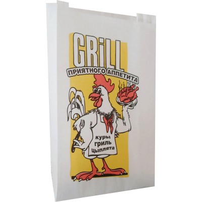 Бумажный пакет жиростойкий ламинированный 300x200x70