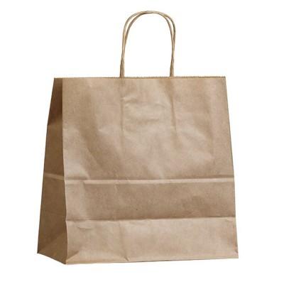 Бумажный пакет с кручеными ручками 450x150x350 крафт