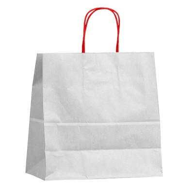 Бумажный пакет с кручеными ручками 450x150x350 белый