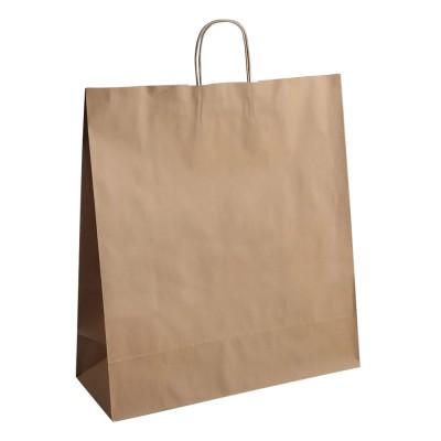 Бумажный пакет с кручеными ручками 450x150x500 крафт