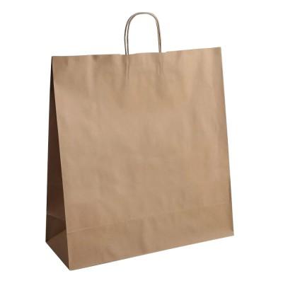 Бумажный пакет с кручеными ручками 480x120x500 крафт