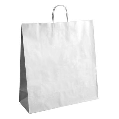 Бумажный пакет с кручеными ручками 450x150x520 белый