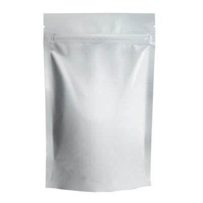 Пакет дой-пак с замком зип-лок белый фольгированный 150x240+(40+40)