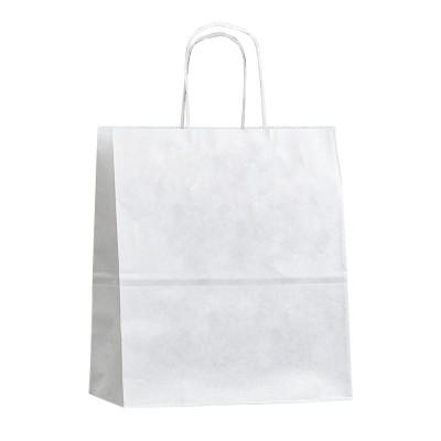 Бумажный пакет с кручеными ручками 260x150x350 белый