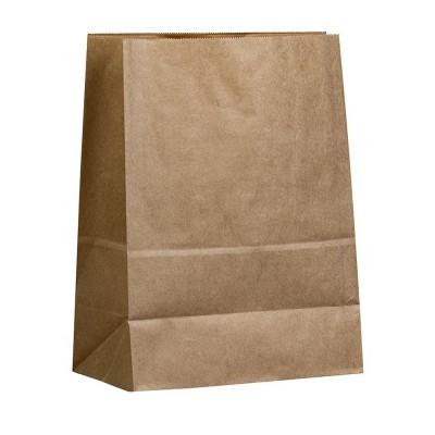Бумажный пакет 220x120x290 крафт (50 гр/м²)