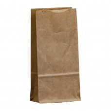 Бумажный пакет 120x80x240 крафт