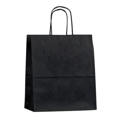 Бумажный пакет с кручеными ручками 260x150x350 черный