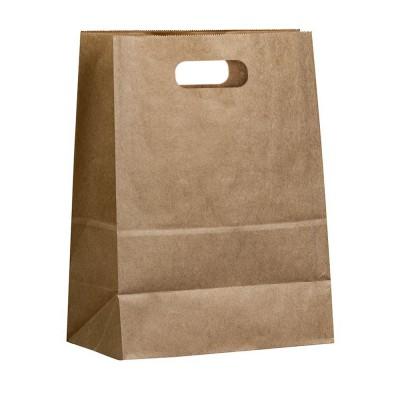 Бумажный пакет с вырубными ручками 280x160x360 крафт