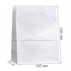 Бумажный пакет 180x120x290 белый