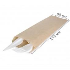 Бумажный пакет под столовые приборы 210x80
