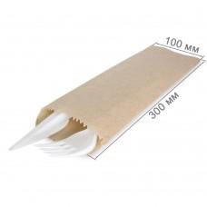 Бумажный пакет под столовые приборы 300x100