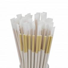 Трубочки для коктейля в индивидуальной упаковке крафт