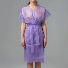 Халаты-кимоно спанбонд 10 шт, цвет в ассортименте