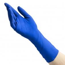 Перчатки латексные «Хай Риск» синие 25 пар