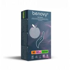 Перчатки нитриловые «Benovy» розовые 50 пар