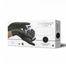 Перчатки из термопластичного эластомера «Benovy» черные 100 пар