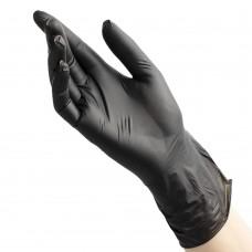 Перчатки виниловые «Benovy» черные 50 пар