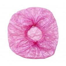Шапочка для душа полиэтиленовая 50 шт розовая