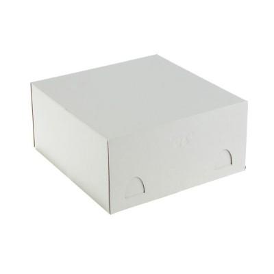 Коробка для торта «Эконом» 280x280x140 белая