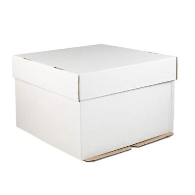 Коробка для торта «Эконом» 360x360x260 белая