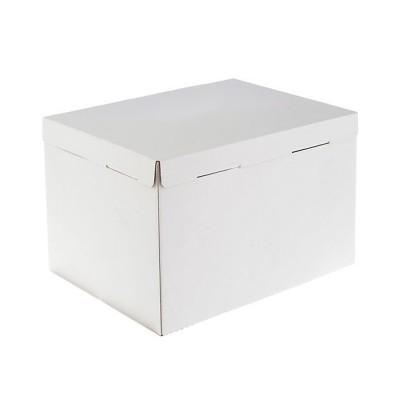 Коробка для торта «Эконом» 300х400x260 белая