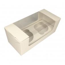 Коробка для 2 капкейков «Fupeco MUF 2» белая