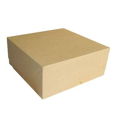 Коробка для торта 255x255x105 крафт