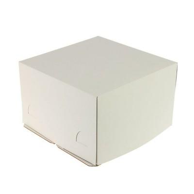 Коробка для торта 300x300x190 белая хром-эрзац