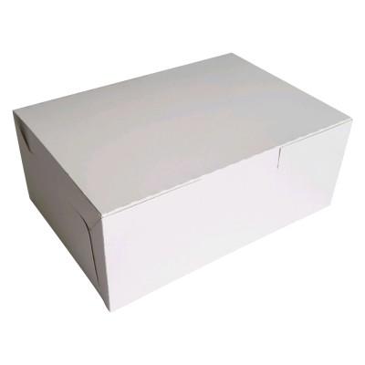 Коробка для кондитерских изделий 215x150x60 белая хром-эрзац