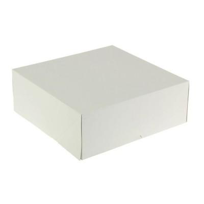 Коробка для торта 255x255x105 белая