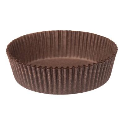 Бумажная форма для тарталеток круглая 10 коричневая