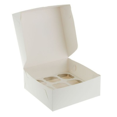 Коробка для 9 капкейков белая
