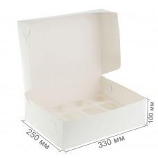 Коробка для 12 капкейков белая