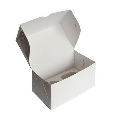 Коробка для 2 капкейков белая