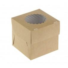 Коробка для 1 капкейка «ECO MUF 1» крафт
