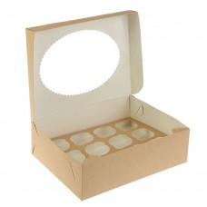 Коробка для 12 капкейков «ECO MUF 12» крафт
