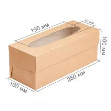 Коробка для 3 капкейков «ECO MUF 3» крафт