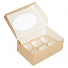 Коробка для 6 капкейков «ECO MUF 6» крафт