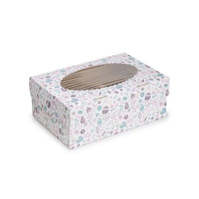 Коробка для 6 капкейков «ECO MUF 6» Sweet